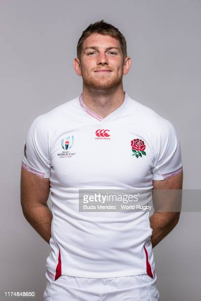 Ruaridh McConnochie of England poses for a portrait during the England Rugby World Cup 2019 squad photo call on September 15, 2019 in Miyazaki, Japan.