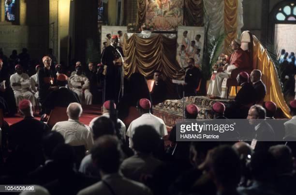 Rubaga Ouganda août 1969 Le pape PAUL VI effectue une visite apostolique en Ouganda du 31 juillet au 2 août 1969 C'est la première fois qu'un Pape se...