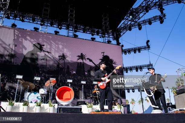 Ruban Nielson and Jake Portrait of Unknown Mortal Orchestra perform during the 2019 Coachella Valley Music And Arts Festival on April 21 2019 in...