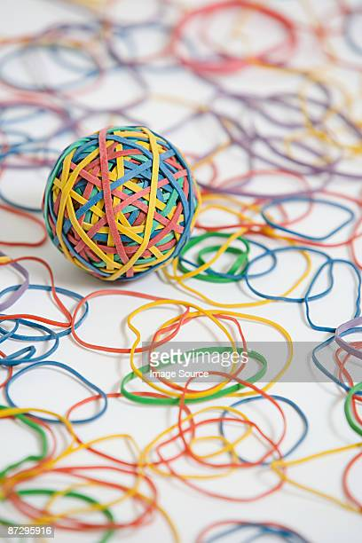 Rubber band ball and rubber bands