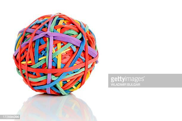 rubber band ball - gummi stock-fotos und bilder