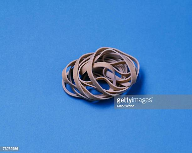 """Rubber band pile, close-up"""