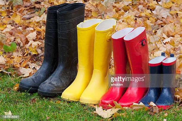 Rubber Boots and Fall Leaves
