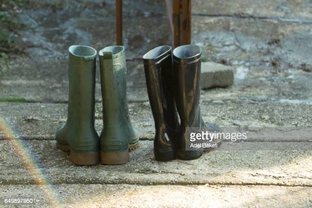 Rubber Boots On Street