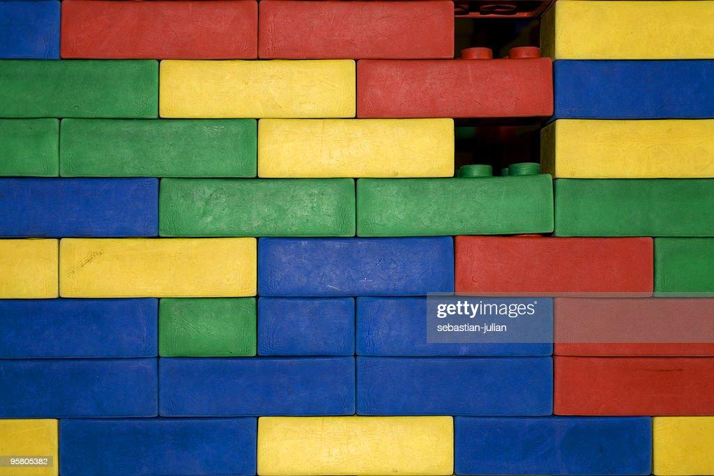rubber brick wall XL : Stock Photo