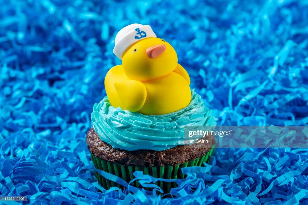 Rubber Ducky Cupcake : Stock Photo