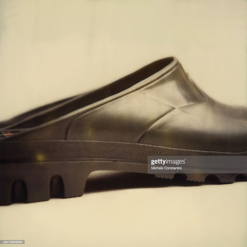 Rubber garden shoe, side view, close up. : Stockfoto