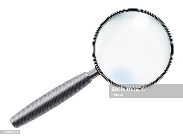rubber handle magnifying glass - vergrootglas stockfoto's en -beelden