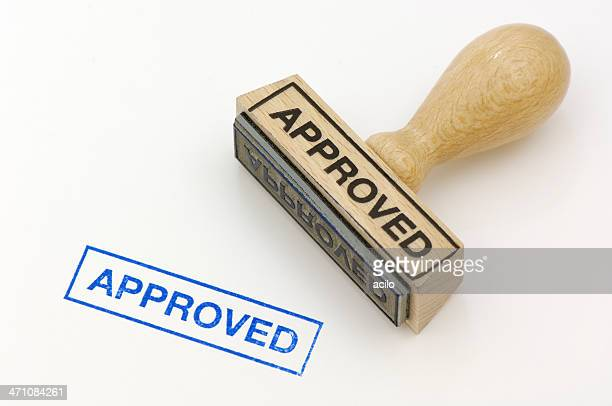 rubber stamp approved - permission concept stock pictures, royalty-free photos & images