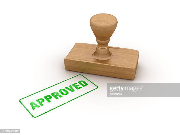approved rubber stamp - permission concept stock pictures, royalty-free photos & images