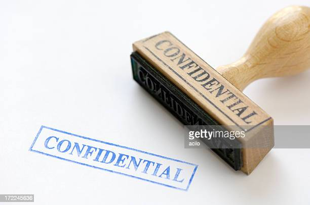 Rubberstamp of the word confidential