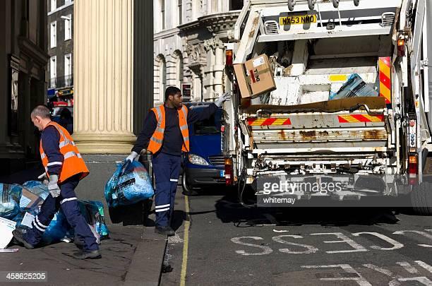 déchets autorisations à londres - eboueur photos et images de collection