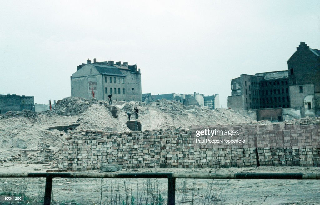 Rubble behind Stalinallee in East Berlin photographed circa