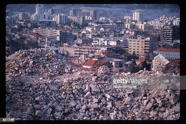 Rubble remains after Serb shelling December 1 1994 in Mostar BosniaHerzegovina When Bosnia declared its independence in March of 1992 the Bosnian...