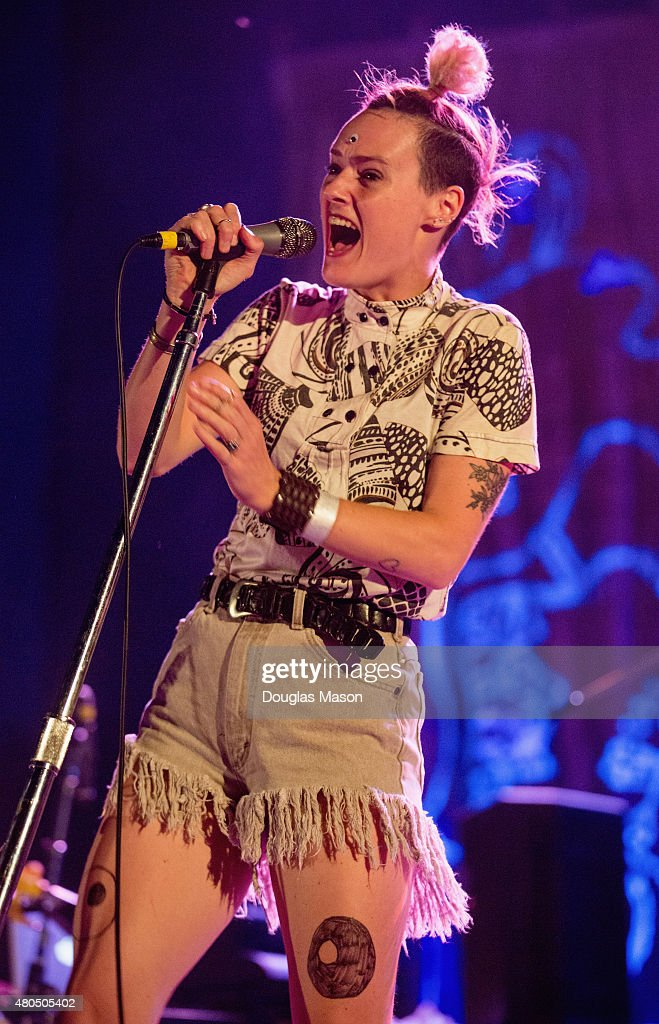 Rubblebucket performs during the Green River Festival 2015 at Greenfield Community College on July 11, 2015 in Greenfield, Massachusetts.