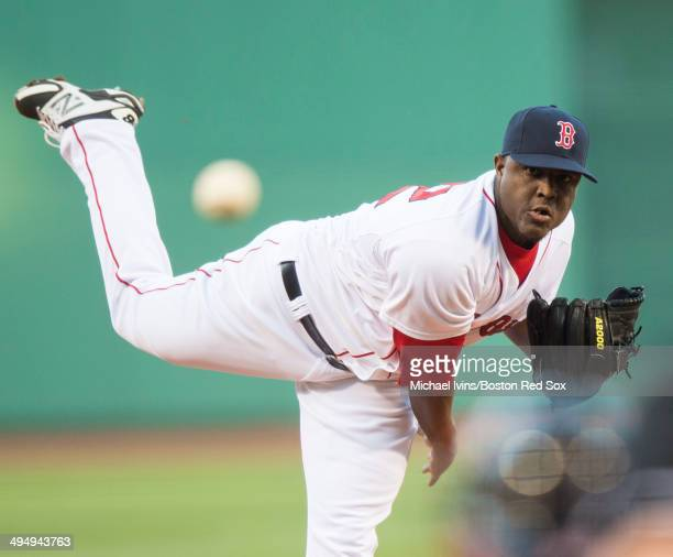 Rubby De La Rosa of the Boston Red Sox pitches against the Tampa Bay Rays in the first inning at Fenway Park on May 31 2014 in Boston Massachusetts