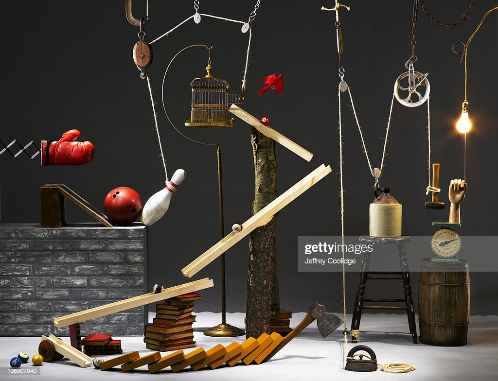 Rube Goldberg Machine : Stock Photo