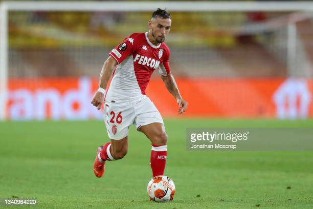 Ruben Aguilar of AS Monaco during the UEFA Europa League group B match between AS Monaco and Sturm Graz at Stade Louis II on September 16, 2021 in...