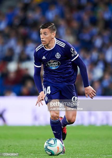 Ruben Alcaraz of Real Valladolid CF in actionduring the Liga match between Real Sociedad and Real Valladolid CF at Estadio Anoeta on February 28 2020...