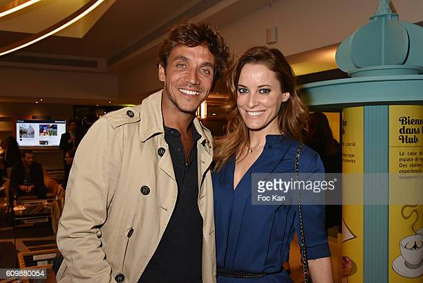 Ruben Alves and Maria joao Bastos attend the Meredien Etoile Opening Party on September 22 on September 22 2016 in Paris France