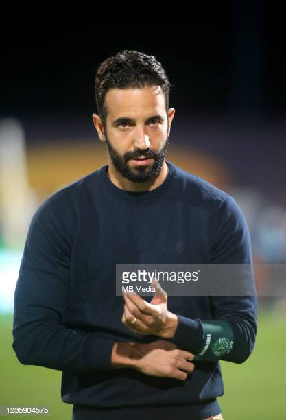 Ruben Amorim Head Coach of Sporting CP looks on ,during the Portuguese Cup match between Os Belenenses and Sporting CP at Estadio do Restelo on...