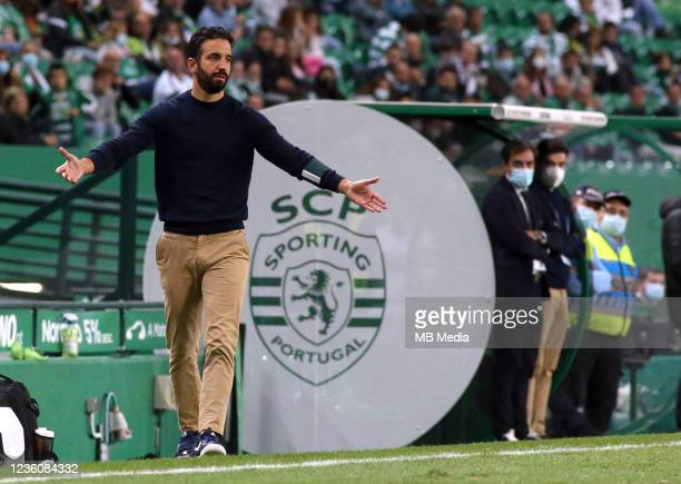 Ruben Amorim Head Coach of Sporting CP reacts ,during the Liga Portugal Bwin match between Sporting CP and Moreirense FC at Estadio Jose Alvalade on...