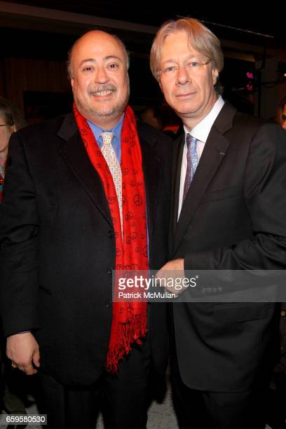 Ruben Beltran and Julian Zugazagoitia attend EL MUSEO DEL BARRIO Inaugural Preview and Reception at El Museo Del Barrio on October 15 2009 in New...