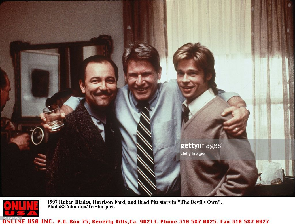 Ruben Blades Harrison Ford And Brad Pitt Stars In The New Movie The Devil's Own : News Photo