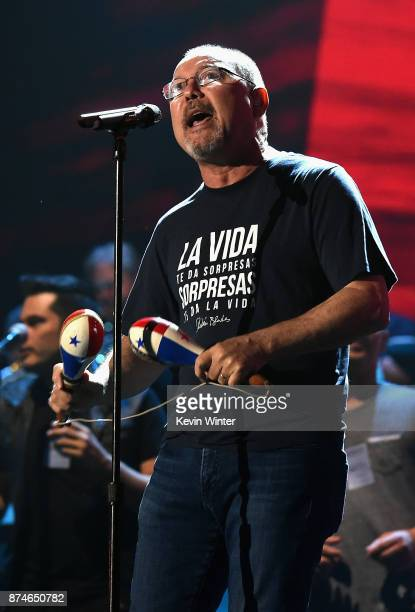 Ruben Blades performs onstage during rehearsals for the 18th annual Latin Grammy Awards at MGM Grand Garden Arena on November 15 2017 in Las Vegas...