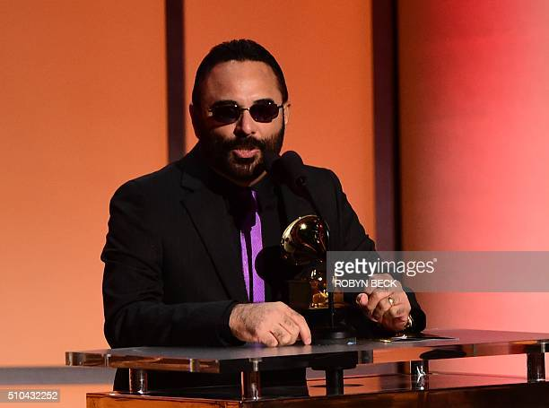 Ruben Blades recieves the award for the Best Tropical Latin Album Son De Panama onstage during the 58th Annual Grammy music Awards in Los Angeles...