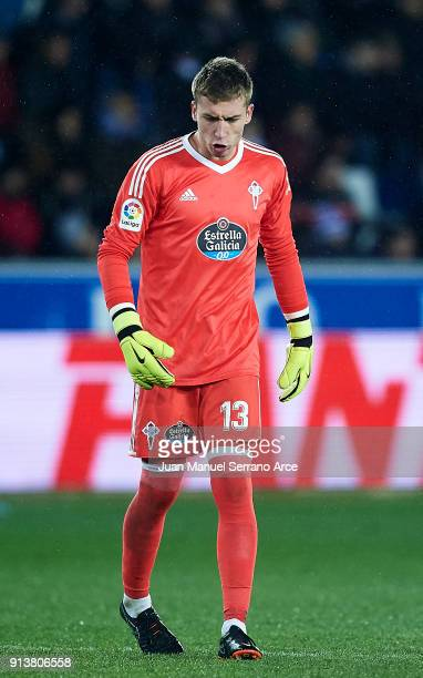 Ruben Blanco of RC Celta de Vigo reacts during the La Liga match between Deportivo Alaves and Celta de Vigo at Estadio de Mendizorroza on February 3...