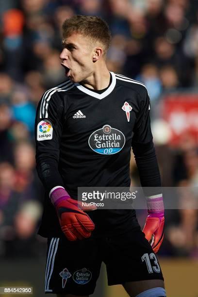 Ruben Blanco of Real Club Celta de Vigo reacts during the La Liga match between FC Barcelona and Real Celta de Vigo at Camp Nou on December 2 2017 in...