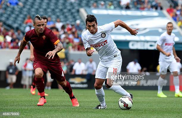 Ruben Botta of FC Inter Milan in action during the International Champions Cup 2014 at Lincoln Financial Field on August 2 2014 in Philadelphia...