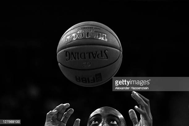 Ruben Boumtje Boumtje of Muenchen during the International Basketball friendly match between FC Bayern Muenchen and Fenerbahce Uelker at Audi Dome on...