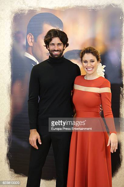 Ruben Cortada and Blanca Suarez attend the presentation of 'Lo que escondian sus ojos' photocall at Tele5 studios on November 16 2016 in Madrid Spain