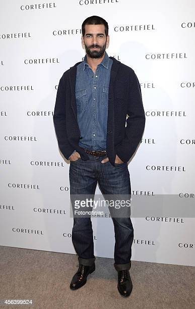 Ruben Cortada presents the new Cortefiel autumnwinter campaign at Cortefiel Store Puerta del Sol on September 30 2014 in Madrid Spain