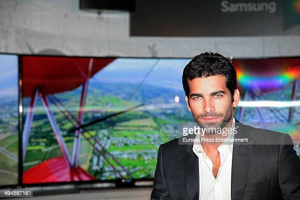 Ruben Cortada presents UHD Curved Television Samsung at Sheraton Mirasierra Hotel on May 29 2014 in Madrid Spain