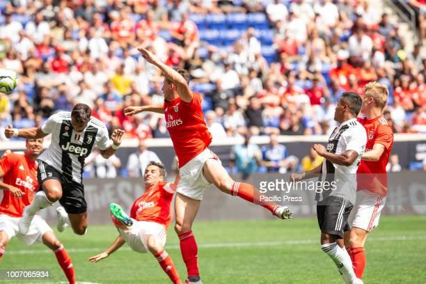 Ruben Dias of Benfica defends during ICC game against Juventus at Red Bull Arena Juventus won 1 1 on penalties