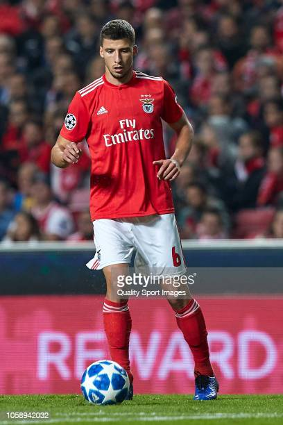 Ruben Dias of Benfica in action during the Group E match of the UEFA Champions League between SL Benfica and Ajax at Estadio da Luz on November 7...