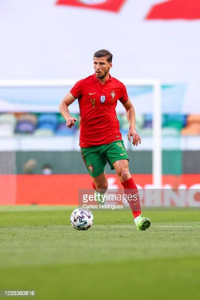 Ruben Dias of Portugal and Manchester City during the international friendly match between Portugal and Israel at Estadio Jose Alvalade on June 9,...
