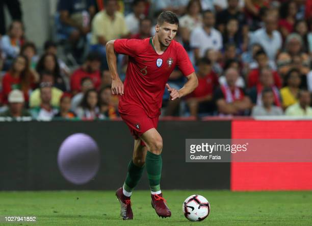 September 6: Ruben Dias of Portugal and SL Benfica in action during the International Friendly match between Portugal and Croatia at Estadio Algarve...
