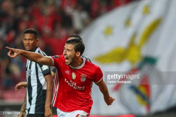 Ruben Dias of SL Benfica celebrates scoring SL Benfica second goal during the Liga Nos round 9 match between SL Benfica and Portimonense SC at...