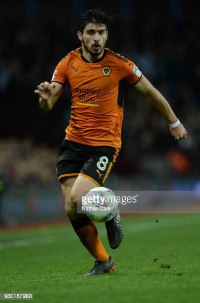 Ruben Diogo da Silva Neves of Wolverhampton Wanderers in action during the Sky Bet Championship match between Aston Villa and Wolverhampton Wanderers...