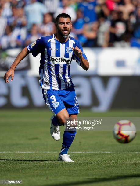 Ruben Duarte of Deportivo Alaves CF during the La Liga Santander match between Deportivo Alaves v Espanyol at the Estadio de Mendizorroza on...