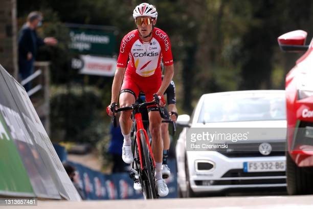 Ruben Fernandez Andujar of Spain and Team Cofidis on arrival during the 85th La Fleche Wallonne 2021, Men Elite a 193,6km race from Charleroi to Mur...