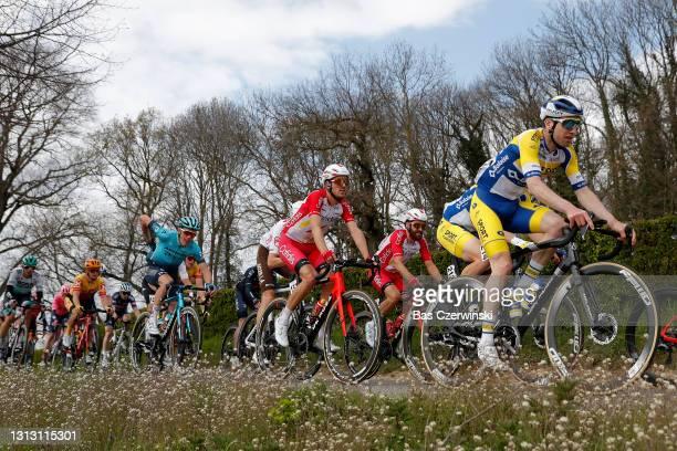 Ruben Fernandez Andujar of Spain and Team Cofidis & Thomas Sprengers of Belgium and Team Sport Vlaanderen - Baloise during the 55th Amstel Gold Race...