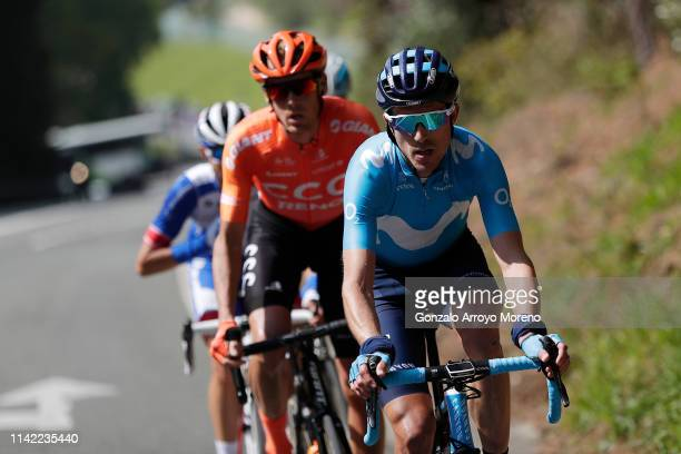 Ruben Fernandez of Spain and Movistar Team / Alessandro De Marchi of Italy and CCC Team / Rudy Molard of France and Team Groupama - FDJ / during the...