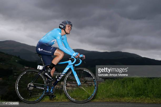 Ruben Fernandez of Spain and Movistar Team / during the 59th Itzulia-Vuelta Ciclista Pais Vasco 2019, Stage 1 a 11,2km Individual Time Trial stage...