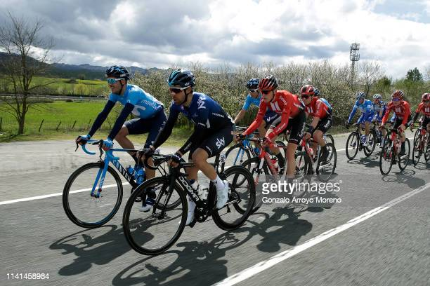 Ruben Fernandez of Spain and Movistar Team / Jonathan Castroviejo of Spain and Team Sky / Sam Oomen of The Netherlands and Team Sunweb / Carlos...