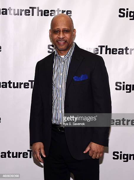 Ruben Francis James attends 'The Liquid Plane' Opening Night Party at Signature Theatre Company's The Pershing Square Signature Center on March 8...